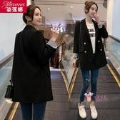 ins西服 chic網紅小西裝外套女2019春秋新款韓版時尚寬鬆休閒小西服女上衣