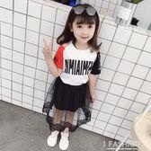 女童洋氣夏裝2018夏季潮衣大童韓版兒童寶寶童裝女孩衣服時髦套裝-Ifashion