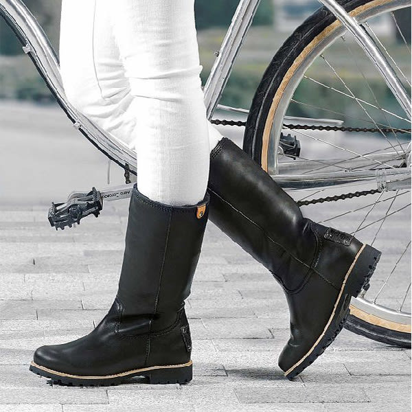 【Panama Jack】BAMBINA水牛皮時尚長靴/女靴 黑色(P6775W-BL)