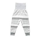可愛圖案高腰護肚長褲 線條雲 童裝 褲子