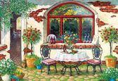 【拼圖總動員 PUZZLE STORY】酒館庭院(作者:Janet) 日本進口拼圖/AppleOne/繪畫/300P