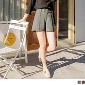 《BA6157》排釦造型腰頭壓線口袋寬短褲 OrangeBear