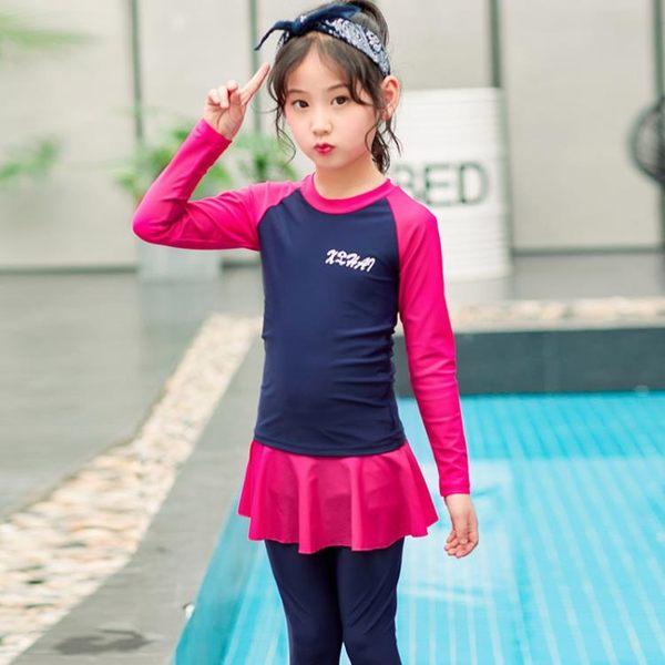 【優選】兒童連體泳衣水母寶寶正韓潛水游泳衣男女