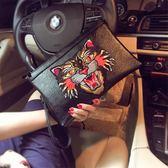 新款韓版手拿包 潮流時尚個性手抓包 男女手包信封包手腕包潮 喵小姐