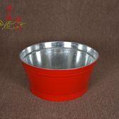 聚寶盆 聚寶桶 火盆紅色拜祭用品 紅色化金桶拜神拜佛爐 燒紙桶燒wy
