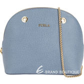 FURLA Asia 金字防刮小牛皮鍊帶包(藍灰色) 1720411-85