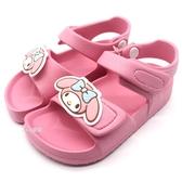 《7+1童鞋》三麗鷗 SANRIO 美樂蒂 防水 休閒 涼鞋 E121 粉色