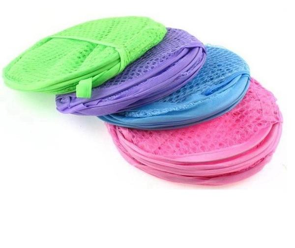 Qmishop 高品質彩網折疊洗衣籃/收納桶/雜物桶/髒衣籃 收納箱 收納籃 【J358】