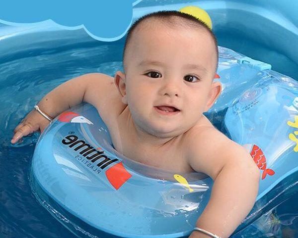 寶寶遊泳圈1-3歲兒童6小孩女孩腋下圈防翻0-12個月充氣嬰兒遊泳圈 至簡元素