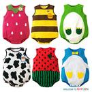 童裝 六款動物水果造型無袖包屁衣 背心哈衣
