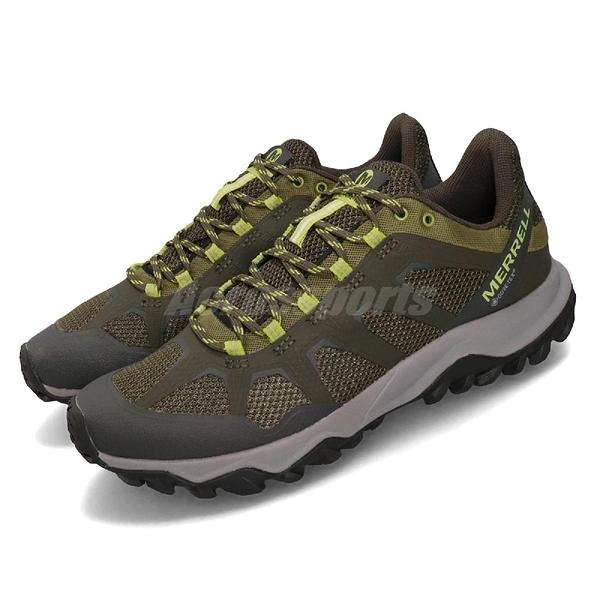 Merrell 戶外鞋 Fiery GTX 綠 灰 男鞋 運動鞋 Gore-Tex 防水 【PUMP306】 ML99621