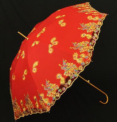 結婚用紅雨傘新娘傘