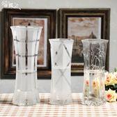 花瓶富貴竹中大號玻璃透明百合水培簡約現代六角客廳桌面插花花瓶igo   酷男精品館