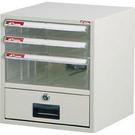 SHUTER 樹德 A4N-104K桌上型資料櫃(附鎖米白抽)