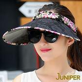 防曬帽子-女款抗紫外線UV防曬蕾絲空心休閒帽J7539 JUNIPER朱尼博