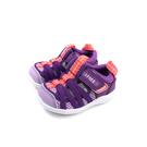 IFME 運動機能鞋 紫色 簍空 魔鬼氈 小童 童鞋 IF22-010602 no143