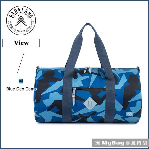 Parkland 旅行袋  藍色迷彩 休閒大容量側背包 View-068 MyBag得意時袋