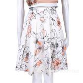 BLUGIRL 白色印花設計及膝裙 1520529-03
