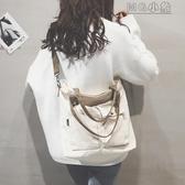 MG 帆布包-帆布包包女新款潮韓版百搭大容量單肩斜挎包大學生上課手提包
