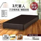 IHouse - 經濟型強化6分硬床座/床底/床架-單人3尺胡桃