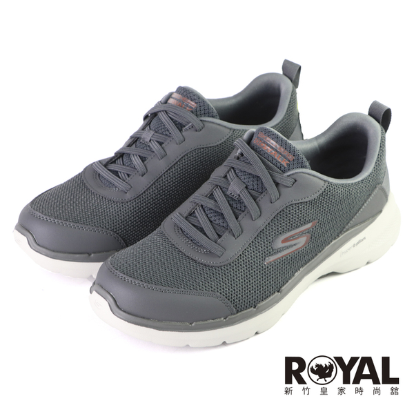 Skechers Go Walk 6 灰色 輕量 支撐 避震 運動鞋 男款 NO.B2156【新竹皇家 216204CHAR】