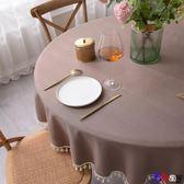 【Bbay】防油桌布 圓桌桌布 防水 防油 免洗 布藝 棉麻 圓形餐桌布