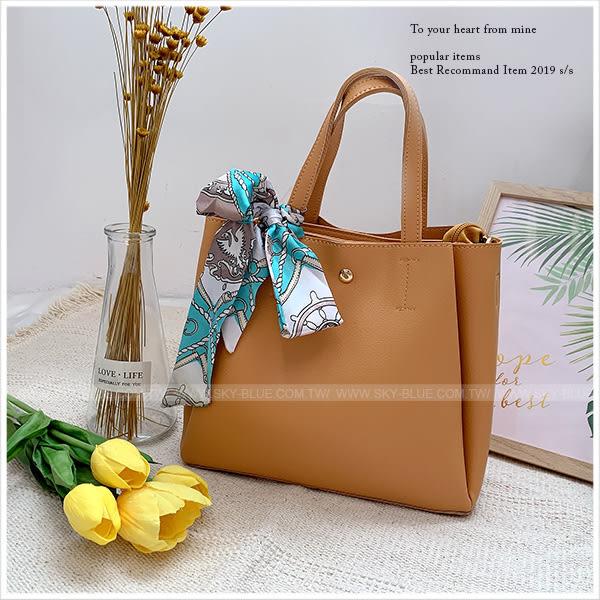 手提包-知性氣質手提/側背包(附絲巾)-共4色-A17173039-天藍小舖