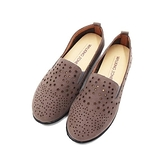 【南紡購物中心】WALKING ZONE (女)圓頭星點樂福鞋 懶人鞋 女鞋 -灰(另有棕)