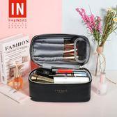 化妝包 bagINBAG化妝包小號便攜韓國簡約大容量化妝品化妝箱手提收納包 摩可美家 雲雨尚品