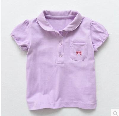 夏季新款女童寶寶全棉翻領短袖POLO衫PLL3796【男人與流行】