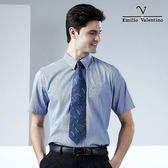 【Emilio Valentino】范倫鐵諾雅致時尚條紋襯衫_藍條紋