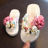 拖鞋 新款兒童拖鞋女夏季外穿親子沙灘海邊夾腳人字拖室內防滑可愛涼拖 珍妮寶貝