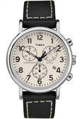 TIMEX 天美時 數字三眼碼表黑色皮帶錶 40mm 夜光冷光面板 TXT2R42800 公司貨 | 名人鐘錶