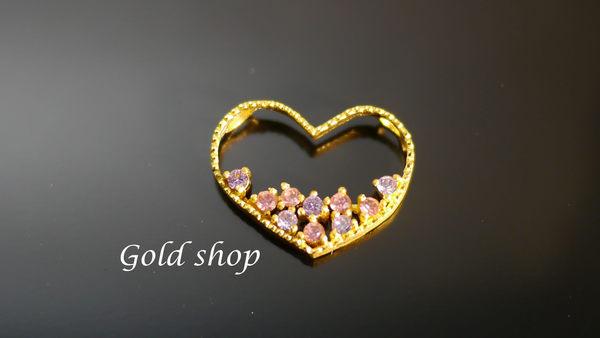 ╭☆ gold shop ☆╯黃金 新品 墜飾 金飾 保證卡 重量0.76錢 贈皮繩項鍊 [ gp 031 ]