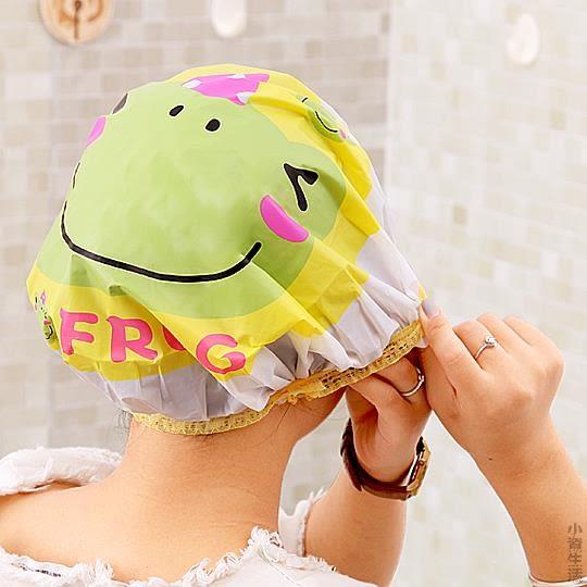可愛防水浴帽兒童淋浴沐浴帽子洗澡頭套女 廚房炒菜做飯防油煙JRM-1273