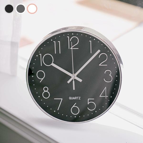 掛鐘 北歐時尚金屬靜音掛鐘 時鐘 三色【O010】旺寶百貨