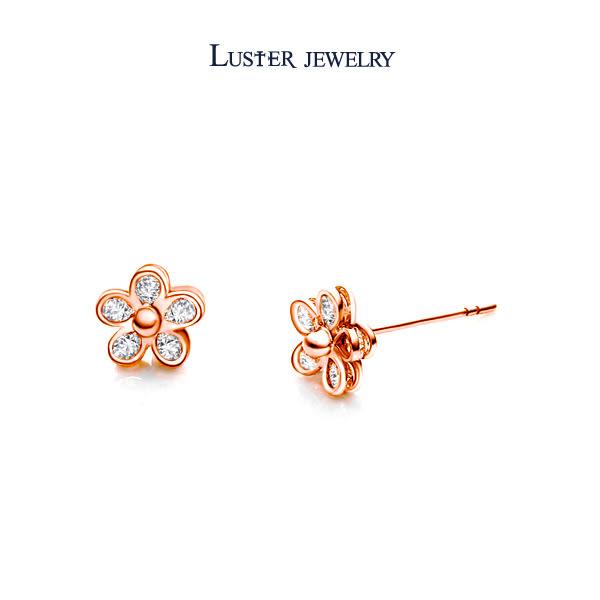 鑽石耳環‧ LUSTER JEWELRY 飛翔花羽50分鑽石耳環