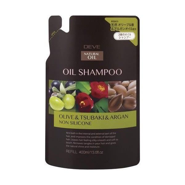 日本製 Kumano熊野油脂(橄欖油&樁油&阿甘油)三油 洗髮精 補充包 -400ML