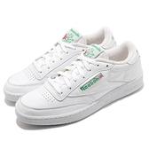 Reebok 休閒鞋 Club C 85 白 綠 皮革 男鞋 女鞋 小白鞋 經典款 【ACS】 FX3874