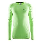 【速捷戶外】瑞典Craft 1903716 全天候長袖內著衣(男)-螢光綠, 登山 滑雪 跑步 路跑 野跑 馬拉松