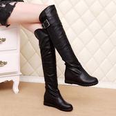 膝上靴平底內增高長靴 過膝長筒高筒靴子 小艾時尚