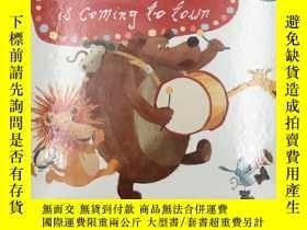 二手書博民逛書店santa罕見claus is coming to town 聖