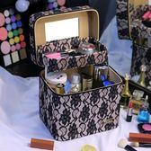 化妝箱 雙層大容量化妝包多層韓國手提可愛小號便攜簡約收納箱盒品 KB2888【野之旅】TW