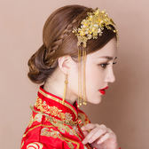 新款中式新娘結婚鳳冠發飾間約秀禾服鳳冠霞帔敬酒服古裝頭飾 傾城小鋪