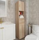 衛生間收納櫃浴室邊櫃儲物櫃馬桶邊角櫃夾縫立櫃側櫃窄櫃抽屜式櫃QM 依凡卡時尚