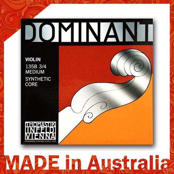 【小麥老師樂器館】奧地利 原裝 Dominant 3/4 小提琴弦 135B Medium 頂級 手工弦