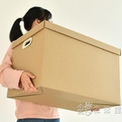 百露3個裝牛皮紙收納箱紙箱搬家打包神器裝...