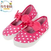 《布布童鞋》台灣製白點點桃紅色蝴蝶結兒童室內鞋休閒鞋(16~21公分) [ Q9S756H ]