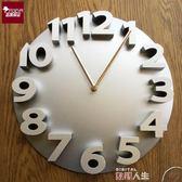 電子鐘 時尚3D數字掛鐘客廳現代創意靜音石英鐘現代簡約壁鐘歐式鐘錶 數碼人生
