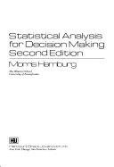 二手書博民逛書店《Statistical Analysis for Decision Making》 R2Y ISBN:0155837478